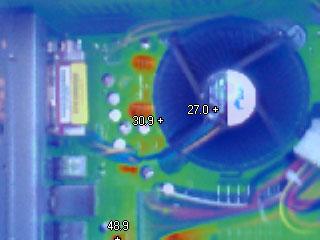 Термограмма тепловизора Fluke Ti-25 Регулируемое совмещение термо и фото кадра (Композитное)