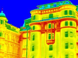 Картинки по запросу здание через тепловизор фото