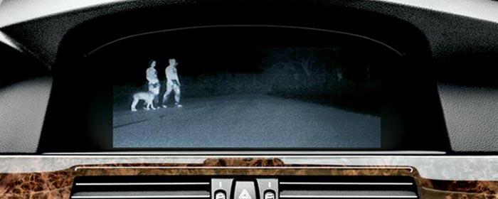 Тепловизор автомобиля BMW Night Vision термограмма