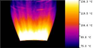 Термограмма тепловизор Testo 875 равномерность выдува пакета из полиэтилена