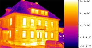 Термограмма тепловизора Testo 881 Тепловизионное обследование зданий